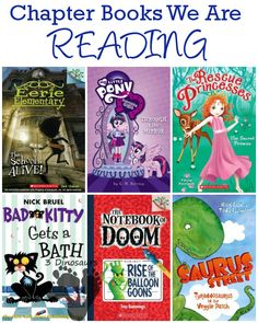 Chapter Books We are Reading Fall 2014 - Notebook of Doom, Princess Rescue, Bad Kitty, Equestria Girls, Saurus Street - 3Dinosaurs.com