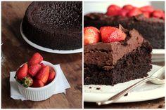 Vintage Kitchen Notes: Vegan Chocolate Strawberry Mousse Cake #ChocolateParty
