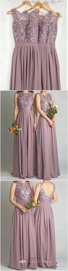 Dramatic Vintage Lace Bridesmaid Dresses with Flowing Chiffon Skirt: I LOVE this dress it's perfect! Dramatic Vintage Lace Bridesmaid Dresses with Flowing Chiffon Skirt: I LOVE this dress it's perfect! Bridesmaid Dresses 2018, Bridesmaids And Groomsmen, Wedding Bridesmaid Dresses, Wedding Attire, Prom Dresses, Lilac Bridesmaid, Lace Dresses, Dress Wedding, Bridesmaid Ideas