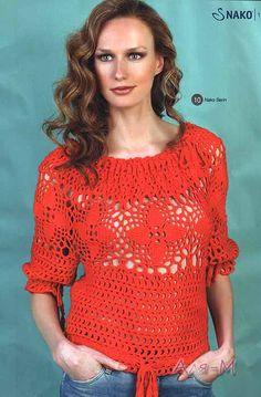 Crochetemoda: Blusas de Crochet♪ ♪ ... #inspiration_crochet #diy GB