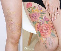 "1,400 curtidas, 22 comentários - 타투스튜디오 아로새기다 (@tattooist_silo) no Instagram: ""[Coverup tattoo] 기존 문신을 수없이 레이저로 지우고 또 지우며 아름다운 꽃타투로 다시 태어나기까지 인고의 시간을 견딘 그녀에게 박수를 보내드립니다 It felt…"""