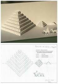 Resultado de imagen para kirigami plantillas piramide