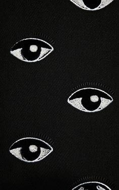 Long Eye-Embroidered Wrap Coat by Kenzo - Moda Operandi