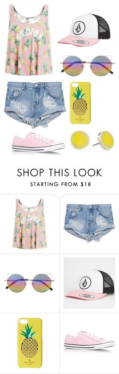 """""""filming a music video with jack and jack"""" by heartomagcon ❤ liked on Polyvore featuring Wildfox, One Teaspoon, Linda Farrow, Volcom, Kate Spade, Converse, Marc by Marc Jacobs, jackgilinsky, jackandjack and jackjackjohnson"""