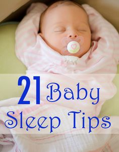A great collection of tips for helping babies sleep through the night.