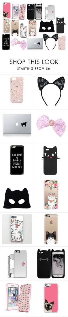 """""""Meow 3"""" by sahara2313 ❤ liked on Polyvore featuring Karl Lagerfeld, Maison Close, Vinyl Revolution, Casetify, Lulu Guinness, Silver Spoon Attire, Forever 21 and Vera Bradley"""
