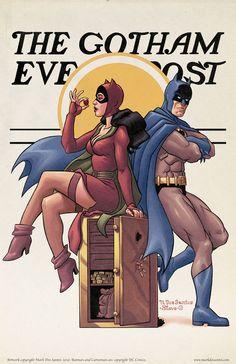 The Gotham Evening Post - Norman Rockwell Inspired Batman Art