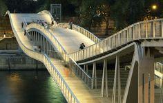 The Passerelle Simone-de-Beauvoir  is a bridge solely for pedestrians and cyclists across the Seine River in Paris