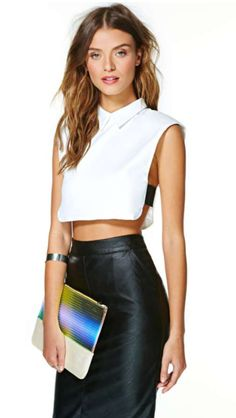 Nastygal top also a must for my closet.