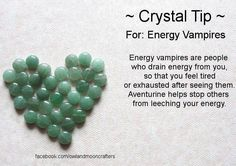 Crone Cronicles: Stone to protect against Energy Vampires