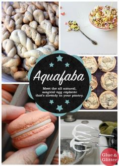 Aquafaba: Magical Egg Replacer for Vegan Meringue Recipes and Beyond- leftover bean liquid. I keep seeing this; I'll have to try it!