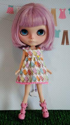 Popsicles, dress for blythe dolls..