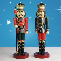 Life Size Nutcracker King Pair 6.5 ft H each  $1,299.00 These Christmas Nutcracker kings are great...larger than life! Two styles, one of each included. What a splash they will make in front of your home...