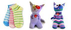 Cat sock toy