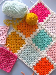 simple and colorfull granny squares - oe day i wil learn how to do granny squares. it is on my list