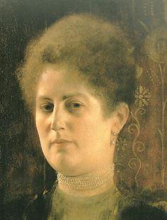 Retrato deuna dama de Klimt es un Primer Plano
