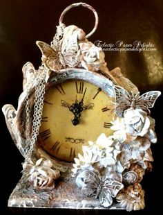 102879172711757571 Eclectic Paper Delights: Altered Clock!