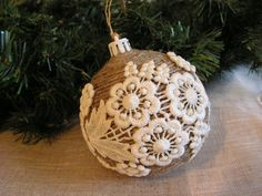 For inspiration - add RPL lace or Irish Crochet motifs to a ball ornament?
