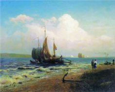 At the River. Windy Day - Fyodor Vasilyev