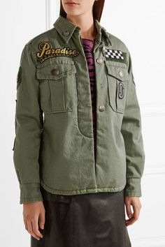 Marc Jacobs - Embellished Cotton-canvas Jacket - Green - US