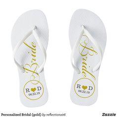 23e2ab666 Personalized Bridal (gold) Flip Flops affiliate lilnk Gold Flip Flops