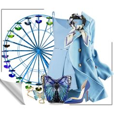 """""""Blue Ferris Wheel"""" by cavell on Polyvore"""
