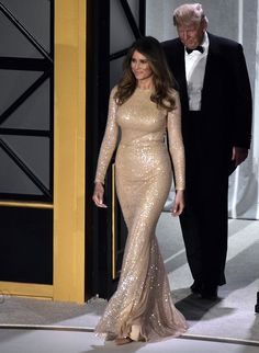 Melania Trump Warms Up for Inauguration Day in Reem Acra