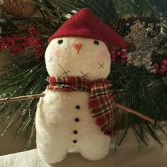 I would like to introduce you to Bjorn the Scandinavian Snowman -- a new snowman in my Etsy shop!