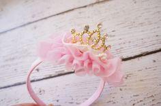 girls princess crown crown baby crown birthday by PoshPeanutKids