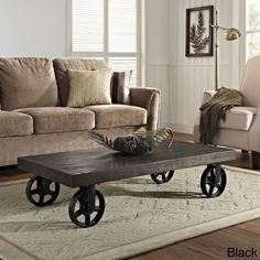 Garrison Wood Top Coffee Table | Overstock.com Shopping - The Best Deals on Coffee, Sofa & End Tables