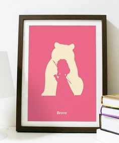 Brave Minimalist Poster  Poster A3 Print by Posterinspired on Etsy, $18.00