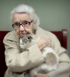 102 year old woman adopted shelter cat…..THEY GIVE EACH OTHER SO MUCH COMFORT……..ccp
