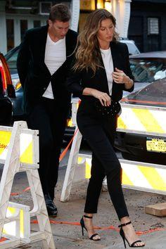 Met Gala 2017: Gisele Bündchen and Tom Brady Wear Matching Black Suits Ahead of the MetGala