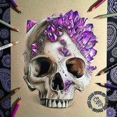 Image result for crystal skull drawing