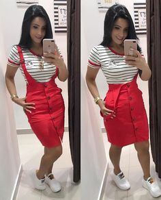 35 ideas for style jeans casual stylists Modest Outfits, Skirt Outfits, Casual Outfits, Cute Outfits, Summer Camping Outfits, Summer Outfits, Skirt And Sneakers, Mode Hijab, Work Attire