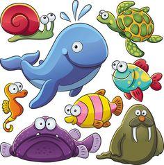Resultado de imagen de dibujos de niñas nadando ENTRE PECES