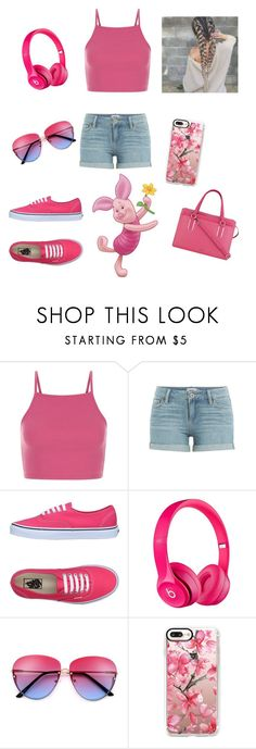 """Piglet"" by fabulous-4296 ❤ liked on Polyvore featuring Paige Denim, Vans, Casetify and Nine West"