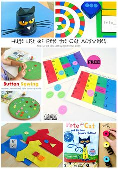 Crafts, activities, and printables to go along with the Pete the Cat books that…