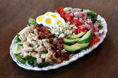 Classic Cobb Salad- a great way to use leftover turkey. #saladideas #cobbsalad #leftoverturkey
