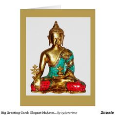 Big Greeting Card:  Elegant Mahatma Buddha Image Card