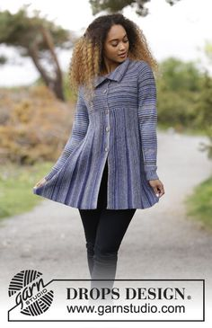 Swagger - Knitted jacket with garter stitch, short rows and raglan, worked sideways. Sizes S - XXXL. The piece is worked in DROPS Fabel. Free knitted pattern DROPS 181-27