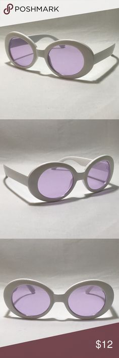 4a34be632ae Purple Lens Clout Goggles ☑ 1 Pair of Clout Goggles ▫️White Frame ▫️Purple