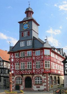 Stadhuis (City Hall) Heppenheim (Duitsland, Germany)