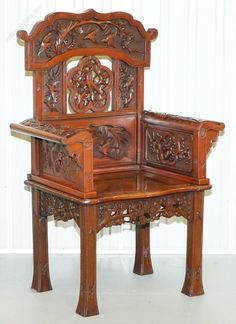 Circa 1900 Qing Dynasty Rosewood Corner Armchair - Antiques Atlas Antique Chinese Furniture, Throne Chair, Corner Chair, Croydon, Antique Chairs, Qing Dynasty, Small Storage, Victorian Era, Hand Carved