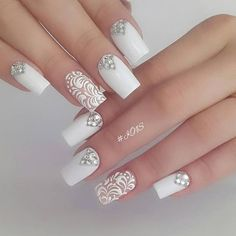 Once you've ticked off the wedding dress and venue, narrowed down the guest list and picked your perfect undo, the only thing left to do is find your suitable wedding nails. If you're subtle… Natural Wedding Nails, Simple Wedding Nails, Wedding Nails For Bride, Bride Nails, Wedding Nails Design, Wedding Dress, Wedding Ceremony, Fun Nails, Pretty Nails