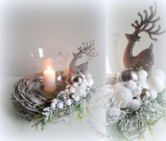 The wreath and candle Christmas Flowers, Christmas Candles, Christmas Wreaths, Christmas Crafts, Christmas Ornaments, Christmas Arrangements, Christmas Centerpieces, Floral Arrangements, Christmas Decorations