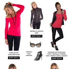 Just another amazing spread of the versatility of our Ali'i Lifestyle Looks for this Fall (2014). #fashion #performance #sweatpink #supermom #fitforwomen #madeforwomen #madeintheusa #leggings #running #sexy #runvest