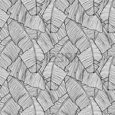 Vector illustration du motif laisse palmier transparente Banque d'images