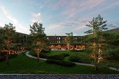 Nestled in one of Europe's most beautiful landscapes, the Lanserhof resort on the Tegernsee in Southern Bavaria offers 70 rooms and suites. Destin Resorts, Hotels And Resorts, World Architecture Festival, Architecture Design, Architecture Awards, Landscape Architecture, Landscape Design, Garden Design, Outdoor Seating Areas