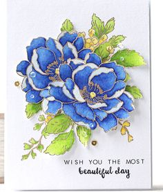 Beautiful Day: Altenew, gold embossed, watercolor?